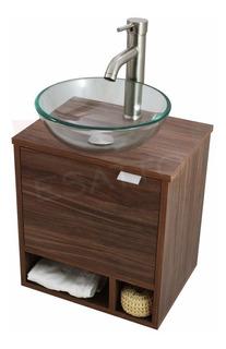 Esatto® Mueble Baño Dcnb Dropmini Satin Lavabo Vidrio Llave