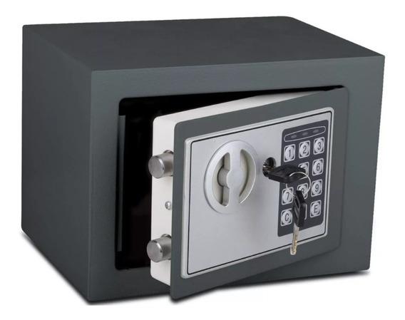 Caja Fuerte Seguridad Digital Resistente Llave + Teclado A Pila Chapa Gruesa Con Bulones