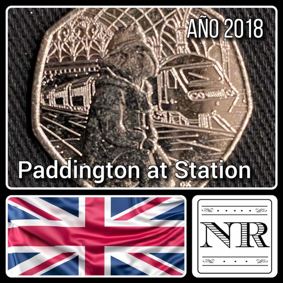Inglaterra - 50 Pence - Año 2018 - Paddington At Station