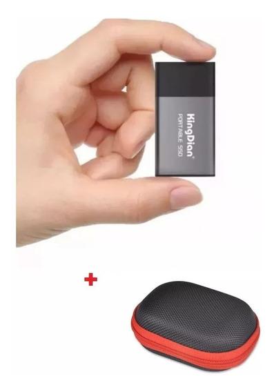 Hd Ssd Externo Portátil Mini Kingdian 240gb Usb 3.0 + Case