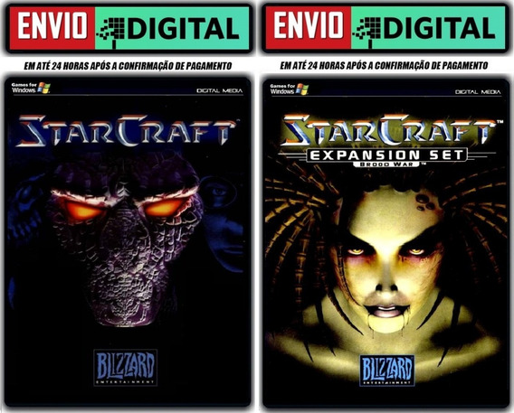 Starcraft 1 + Expansão Broodwar [pc] Envio Digital