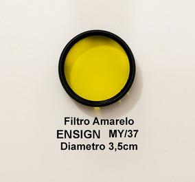 Filtro Amarelo Ensign My/37 Diametro +- 3,5 A 3,7 Cm De Enca