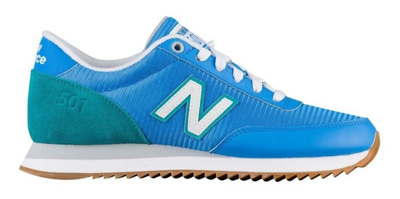 Zapatillas New Balance 501 Dama - Celeste