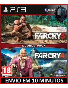 Combo Far Cry 3 + Far Cry 4 Ps3 Psn Envio Hoje Jogos De Ps3