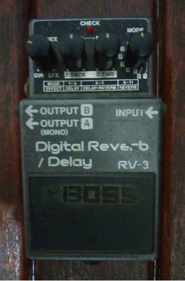 Pedal Boss Digital Reverb / Delay Rv 3