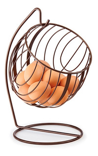 Canasta Para Huevos Metalico Estilo Vintage Huevera