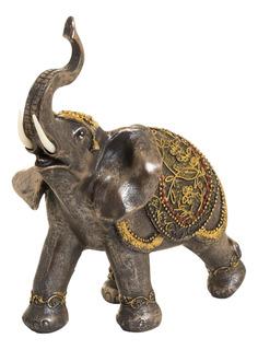 Figura Elefante África Gold Brown 31 Cm