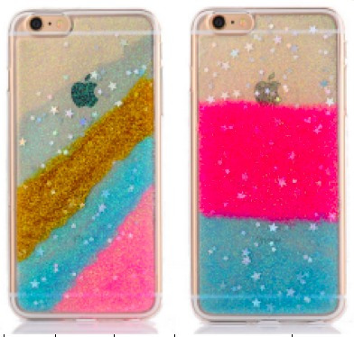 Funda Tpu Brillos Brillantina Colores Iphone 5 5s 6s