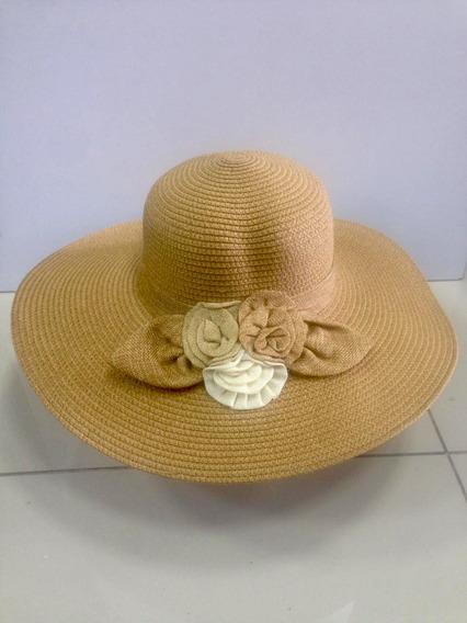 Sombrero Tipo Pava , Hermoso , Excelente Material, Fullmoda