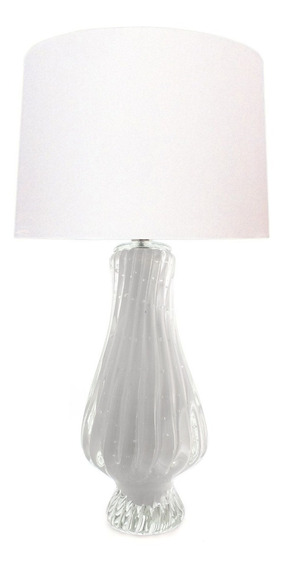 Abajur Sem Cúpula Cristal Murano Villete - Pérola (branco)