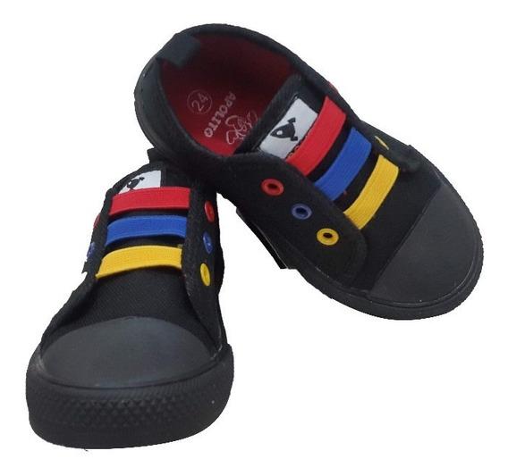 Zapatos Apolito Para Niños Tipo Converse Unicolor