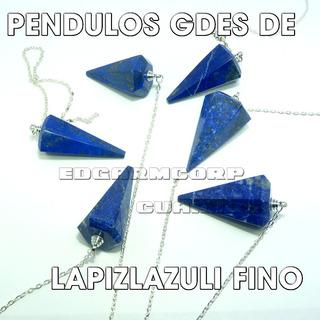 Cuarzo Trc23 Pendulos De Lapizlazuli De Afganistan Gdes