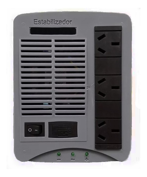 Estabilizador De Tension H500@ 3 Bocas 220v + Filtro Alta Te