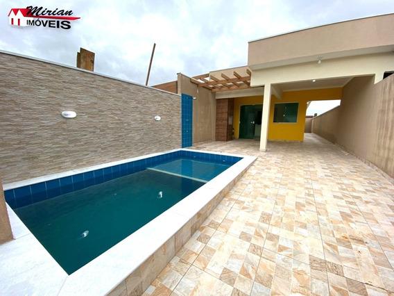 Casa Nova Em Bairro Residencial Com Piscina Em Peruíbe - Ca01377 - 68144866