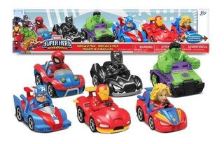 Vehiculos Marvel Superhero 6 Figuras