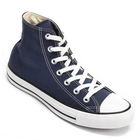Tênis All Star Cano Alto Marinho Ct00040003 Original C/nota
