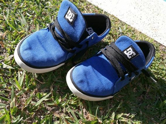 Zapatillas De Lona Dc Talle 34