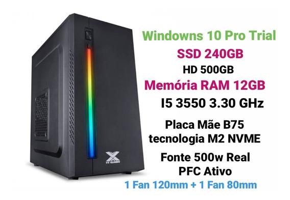 Pc Gamer I5 3550 3.30ghz, Ssd 240gb, Hd 500gb, Ram 12gb