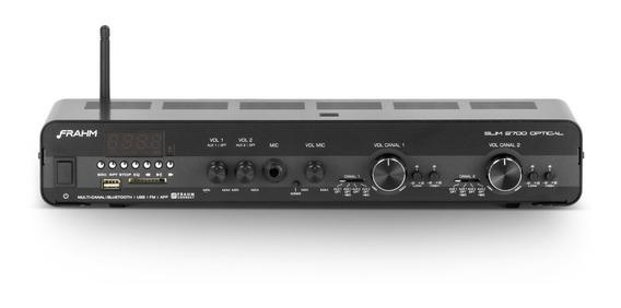 Amplificador Receiver Frahm Slim 2700 Optical Som Ambiente