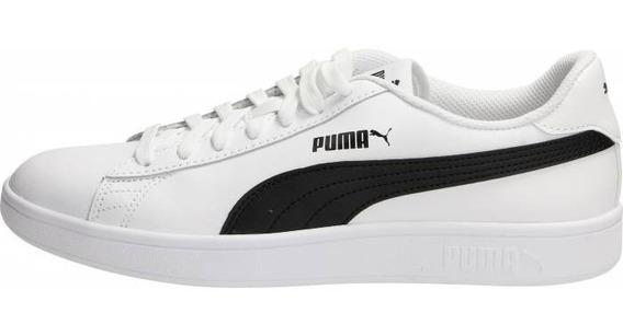 Tenis Puma Smash V2 L Hombre Blanco Negro 36521501