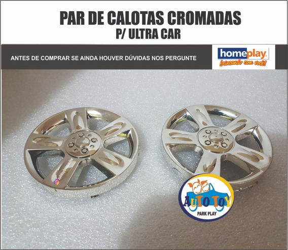 Ultracar 649 - Homeplay - Par De Calotas Cromadas