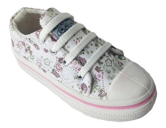 Zapatillas De Lona Estampada Para Niñas (art 081)