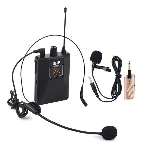 Uhf - Micrófonos Inalámbricos De Doble Frecuencia Con 1 Re