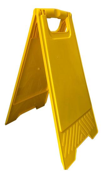 Cartel Amarillo Señalización Piso Mojado Tipo Carpa Liso