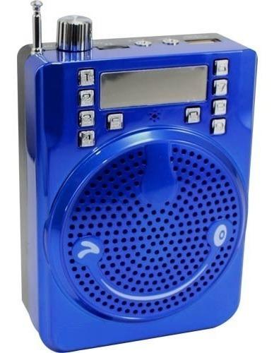 Bocina Portable Con Micrófono Megáfono Batería Recargable