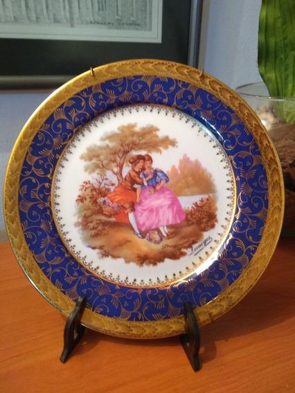 Plato Porcelan Coleccion Limoges C Bella Escena Romantica