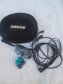 Shure Se215 Fone De Ouvido In Ear Azul (tudo Funcionando)