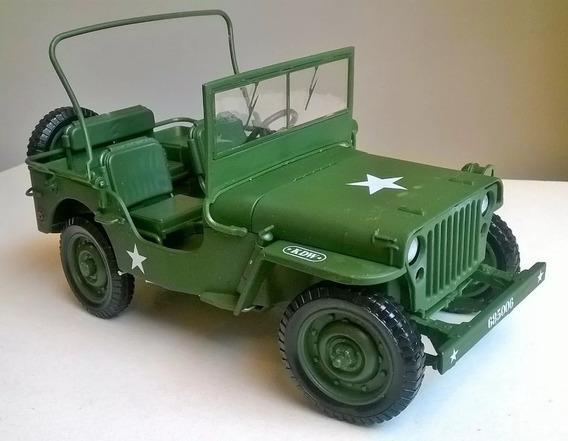 Miniatura Jeep Willys 1:18 Usa 2ª Guerra Militar