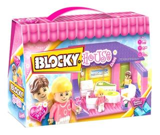 Blocky House Living 1 Ambiente Con 2 Figuras Scarlet Kids