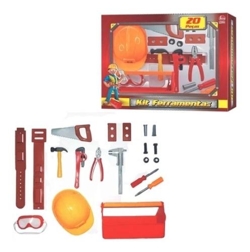 Kit Ferramentas 20pcs C/ Capacete Engenheiro Líder 2381