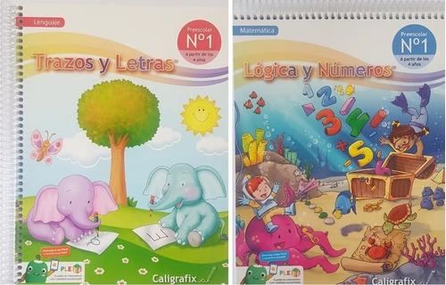 Pack Trazos Y Letras 1 / Logica Y Numeros 1 Pleiq Ed.2021