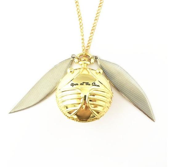 Colar Relicário Pomo De Ouro Harry Potter - Maxi Colar
