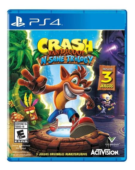 Jogo Midia Fisica Crash Bandicoot Trilogy Original Para Ps4