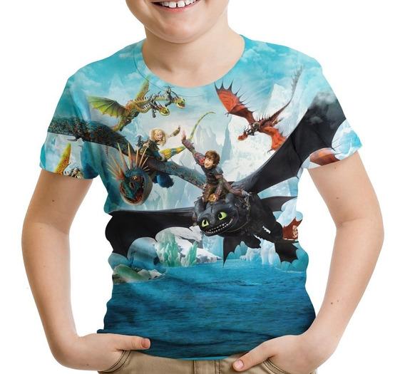 Camiseta Infantil Como Treinar Seu Dragão Soluço Banguela M2