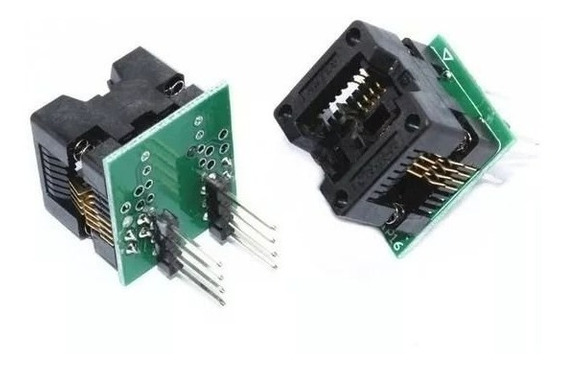 Adaptador P/ Gravador Eeprom Bios Soic8 Sop8 P/ Dip8 150mils