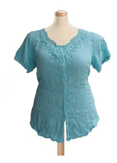 Camisa Mujer Alysus Hindú Puro Algodón L Al 4xl Mythos