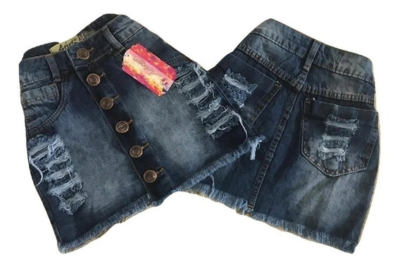 15 Saias Jeans Curtas Feminina Cintura Alta Hot Pant