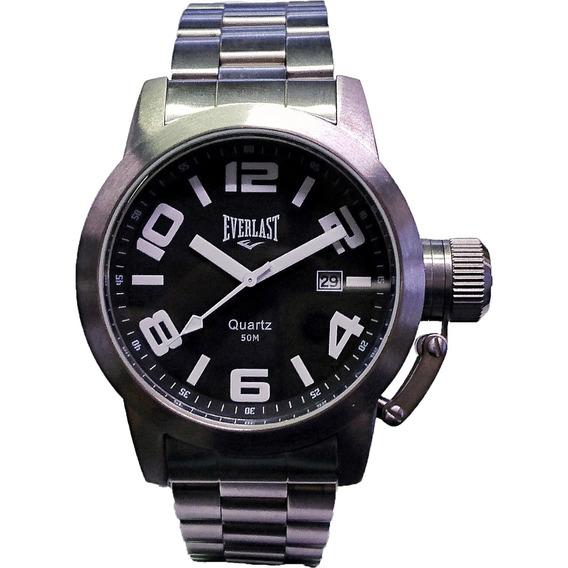Relógio Everlast - E053 - Steel Steel - Black Dial