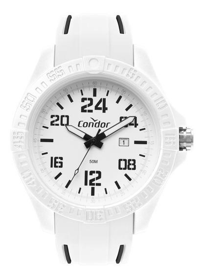 Relógio Condor Esportivo Branco Data Co2115kxc/6b Original