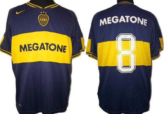 Camiseta De Inferiores De Boca Nike 2007 #8 Talle L