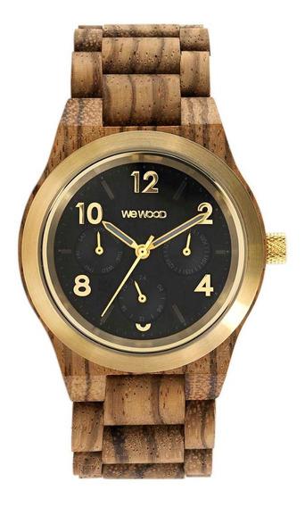 Relógio, Wewood, Kyra Mb Zebrano Gold
