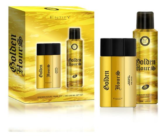 Kit Perfume E Desodorante Golden Hours Original Entity