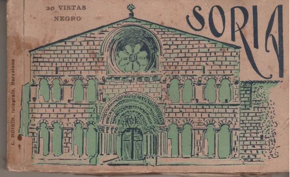 Antiguo Libro De 20 Postales * Vistas De Soria * España