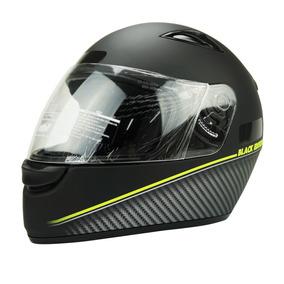 Capacete Pra Moto Masculino Ebf New Spark Black Editi