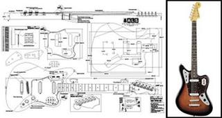 Guitarra Eléctrica Jaguar De Plan Of Baritone Fender - ...