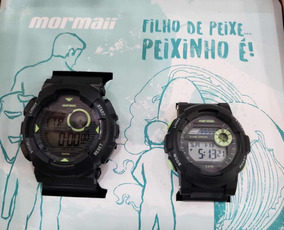 Kit Relógio Pai E Filho Mormaii À Prova De Água Original